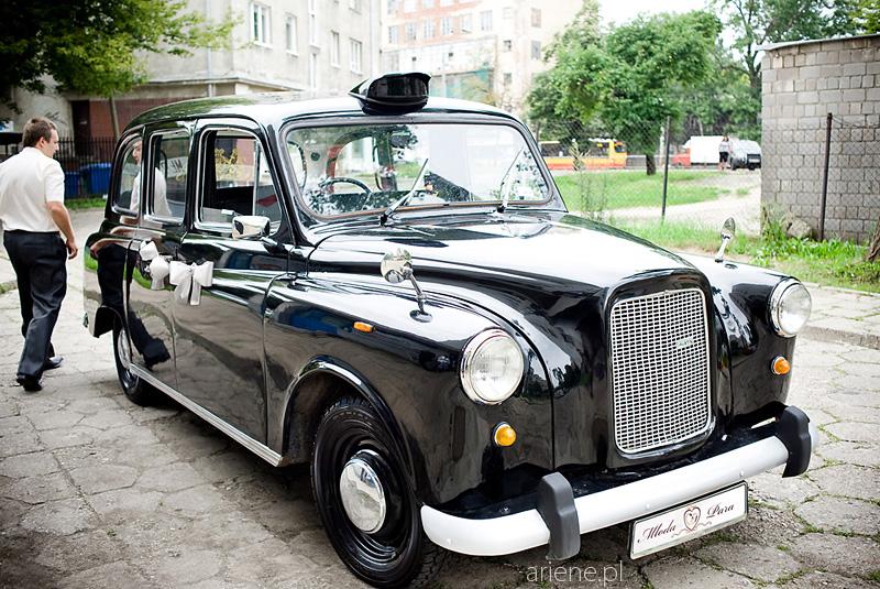 samochód do ślubu, retro