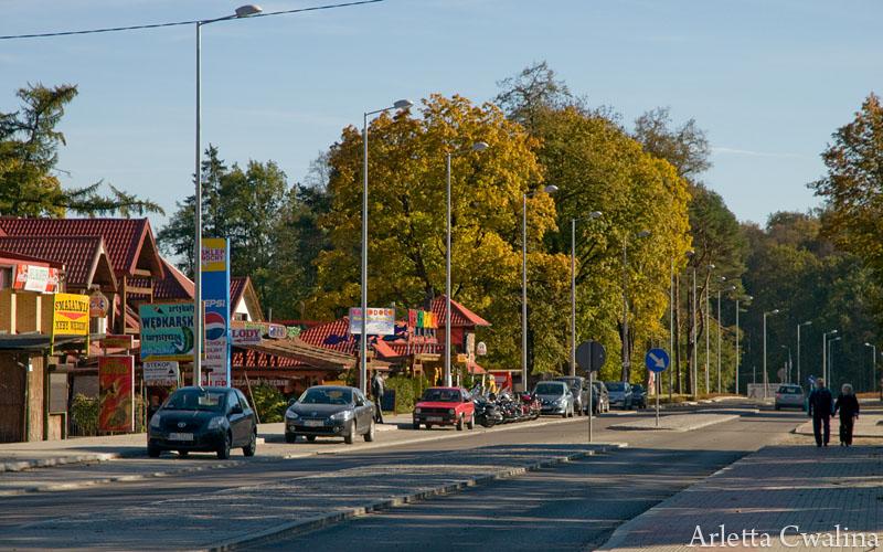Ulica Dworcowa w Rucianem Nidzie