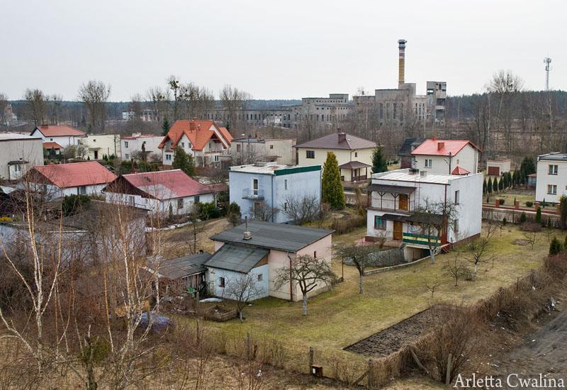 widok z góry na miasto Ruciane Nida