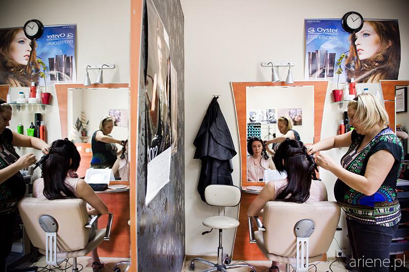 przygotowania do ślubu u fryzjera