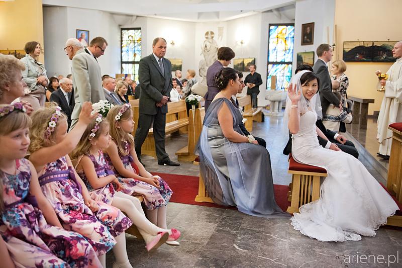 ceremonia ślubna w kościele Pallotynów w Otwocku