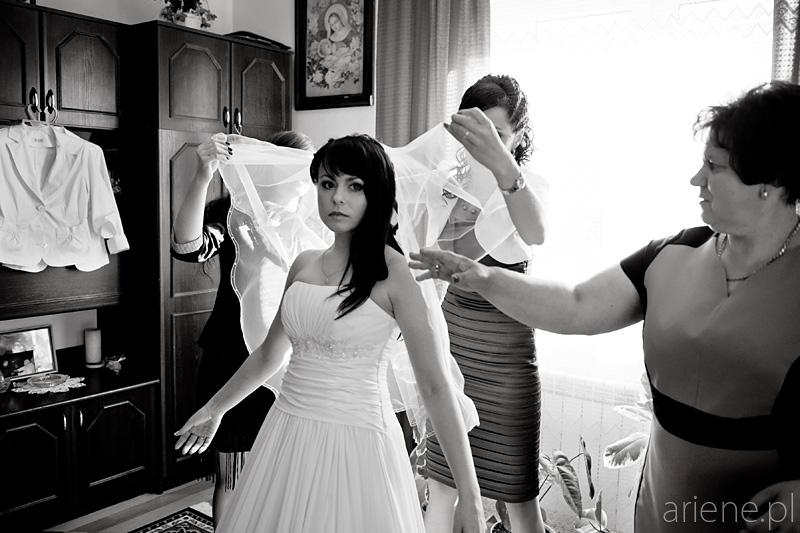 ślub w Sokołowie Podlaskim, przygotowania Panny Młodej