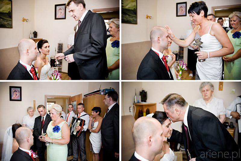 ślub w Piszu, błogosławieństwo rodziców