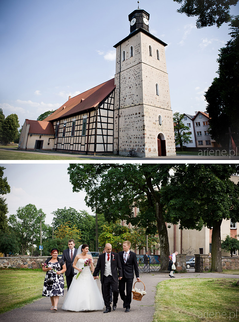 ślub w kościele Jana Chrzciciela w Piszu