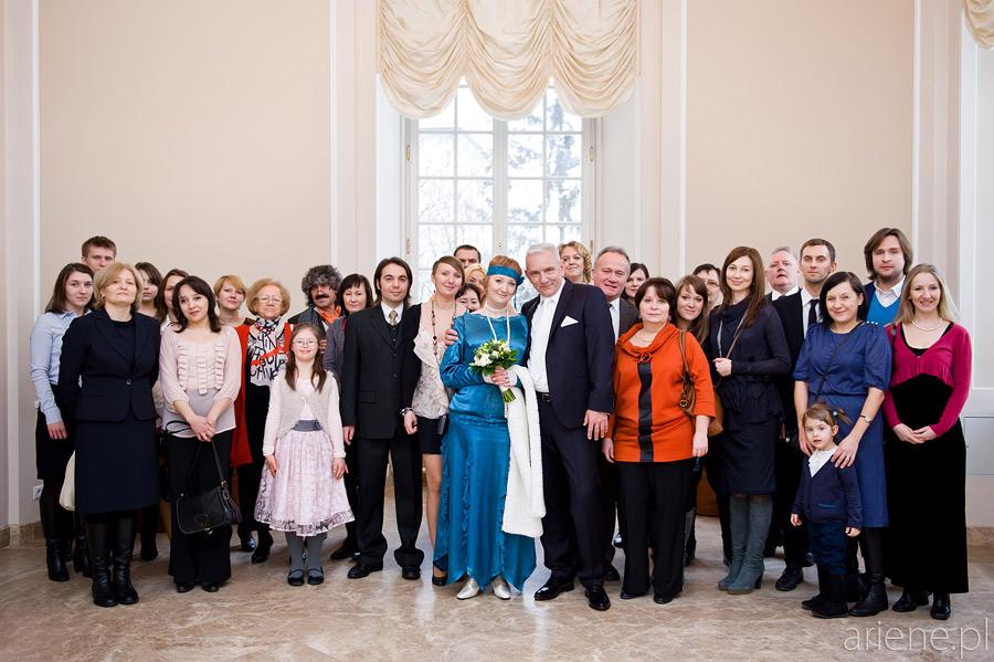 ślub w Pałacu Ślubów na Placu Zamkowym
