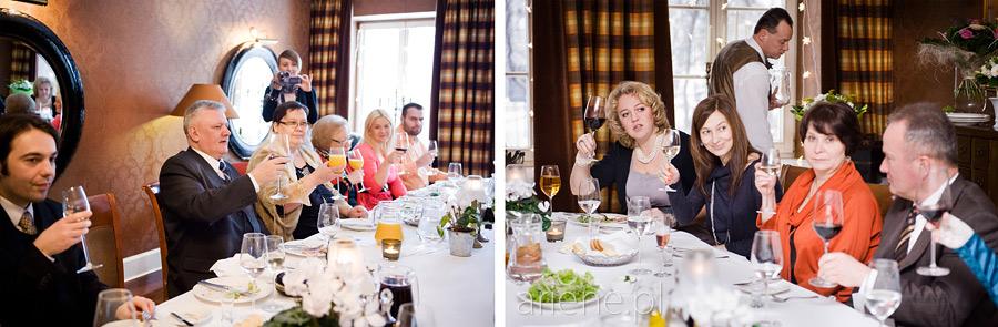 kameralny obiad ślubny w Villa Nuova