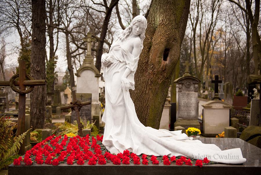 tańcząca śmierć na cmentarzu
