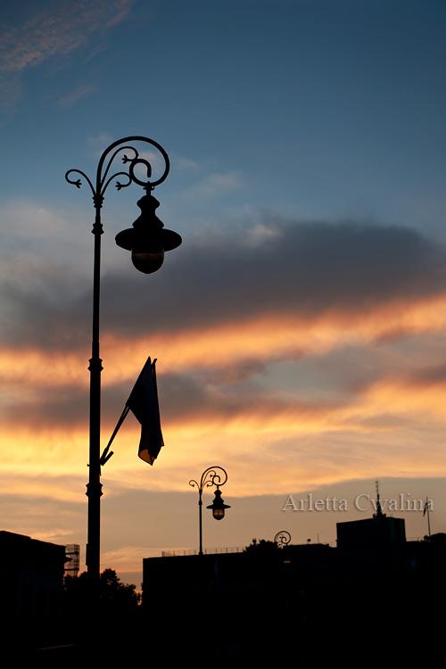 zachód słońca na Starówce