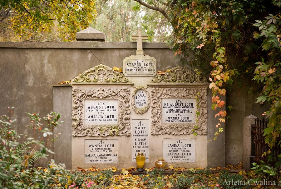 cmentarz Powązki w Warszawie