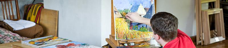 Franciszek Kmita maluje