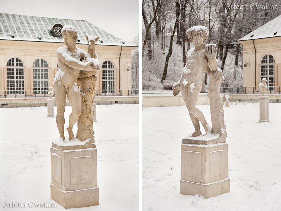 posągi w parku Łazienki Królewskie