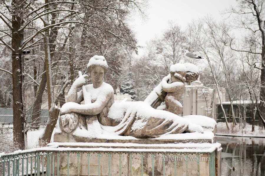 rzeźba Wisły w parku Łazienki Królewskie
