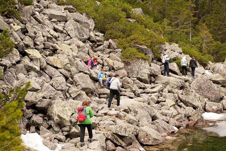 grupy turystów w górach