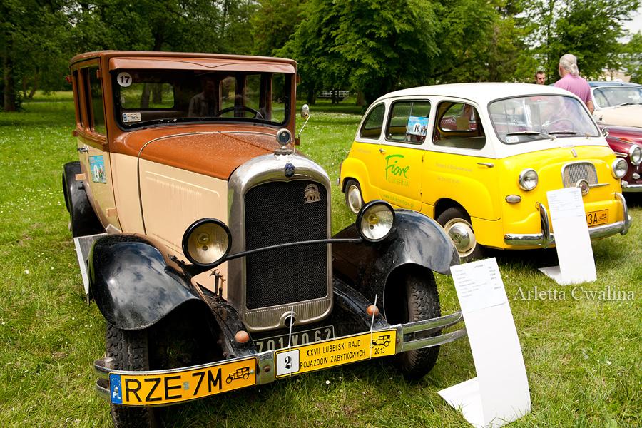 Citroen AC4 z 1930 oraz Fiat 600 Multipla z 1957
