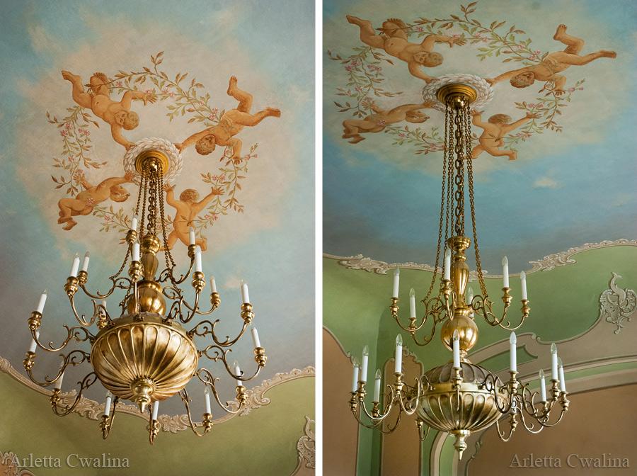dekoracyjne żyrandole w Pałac Branickich w Białymstoku