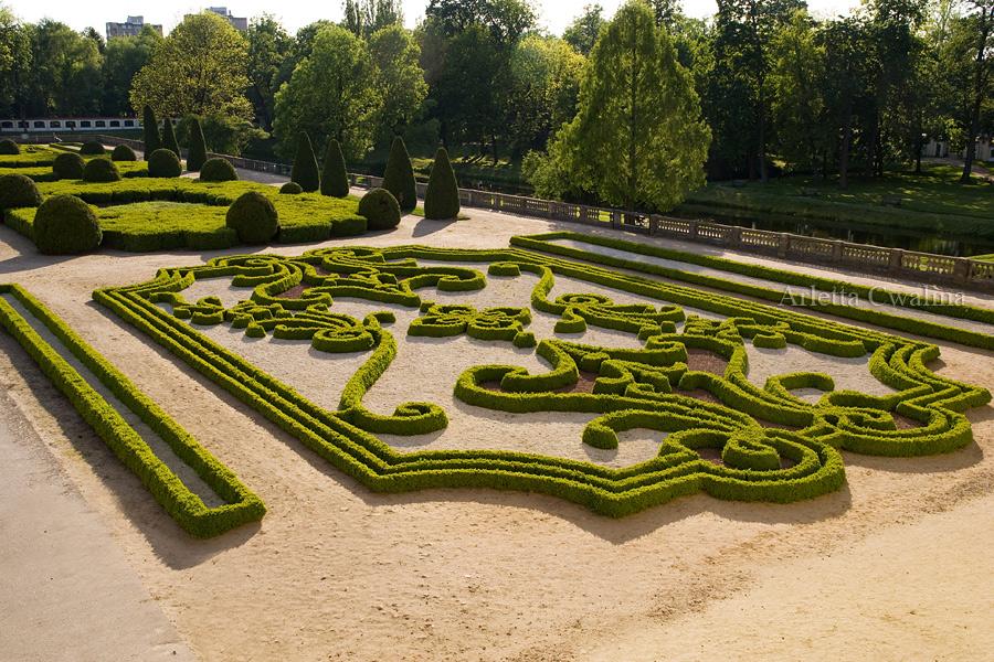ogród przed Pałacem Branickich w Białymstoku