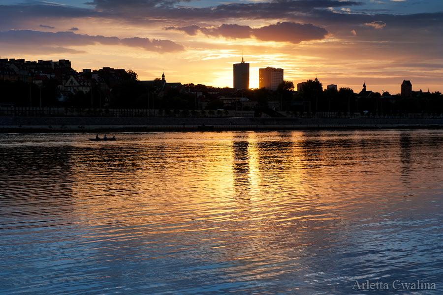 zachód słońca w Warszawie