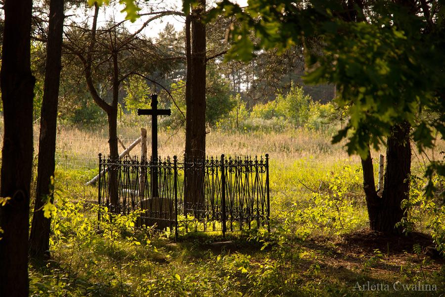 stary cmentarz przy domu