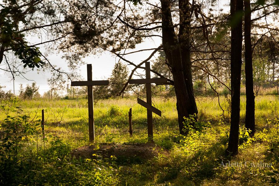 krzyż prawosławny na grobie