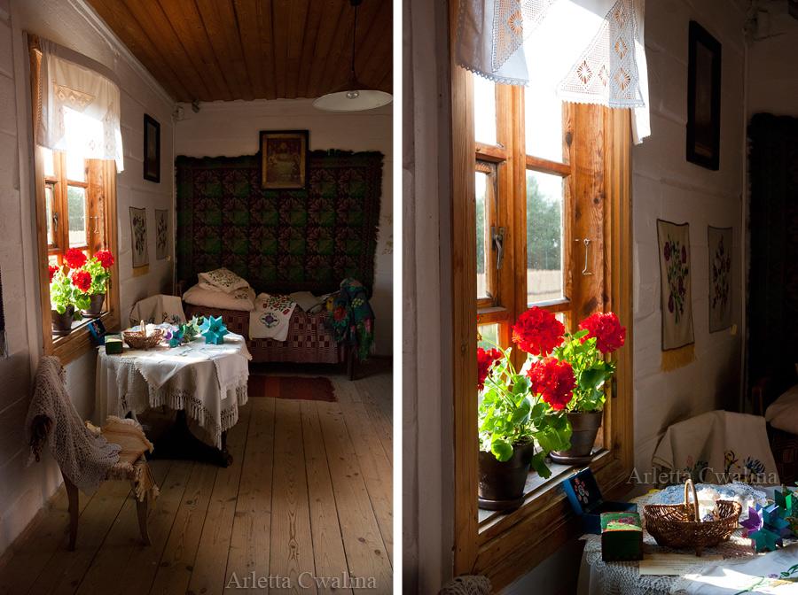 wnętrze chaty w w Białostockim Muzeum Wsi