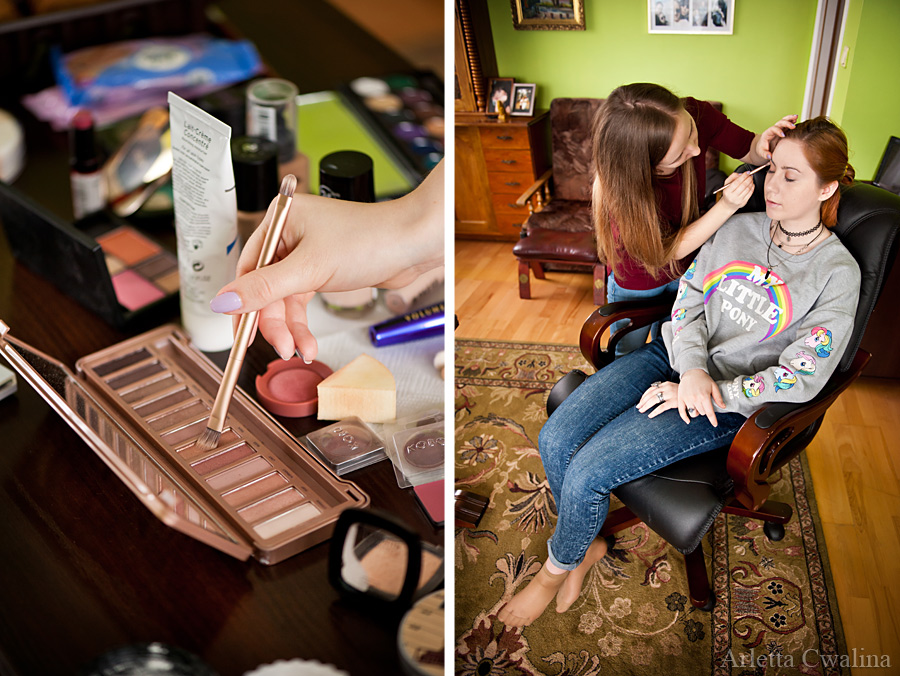 makijaż w domu