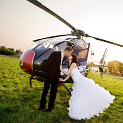sesja plenerowa z helikopterem