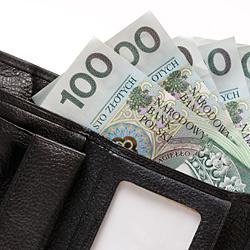portfel z banknotami pln