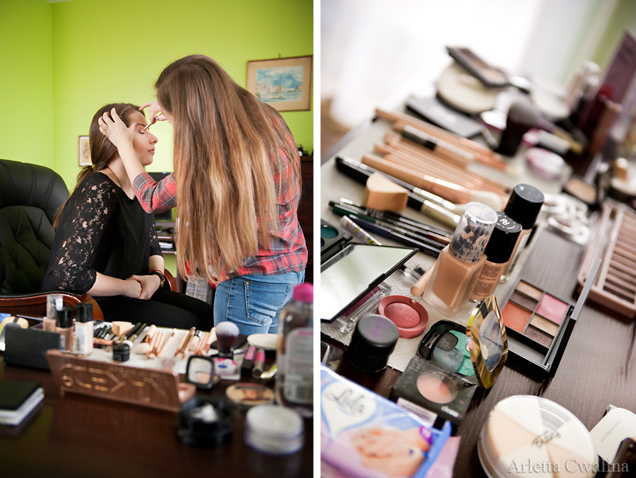 Lesia w pracowni makeup