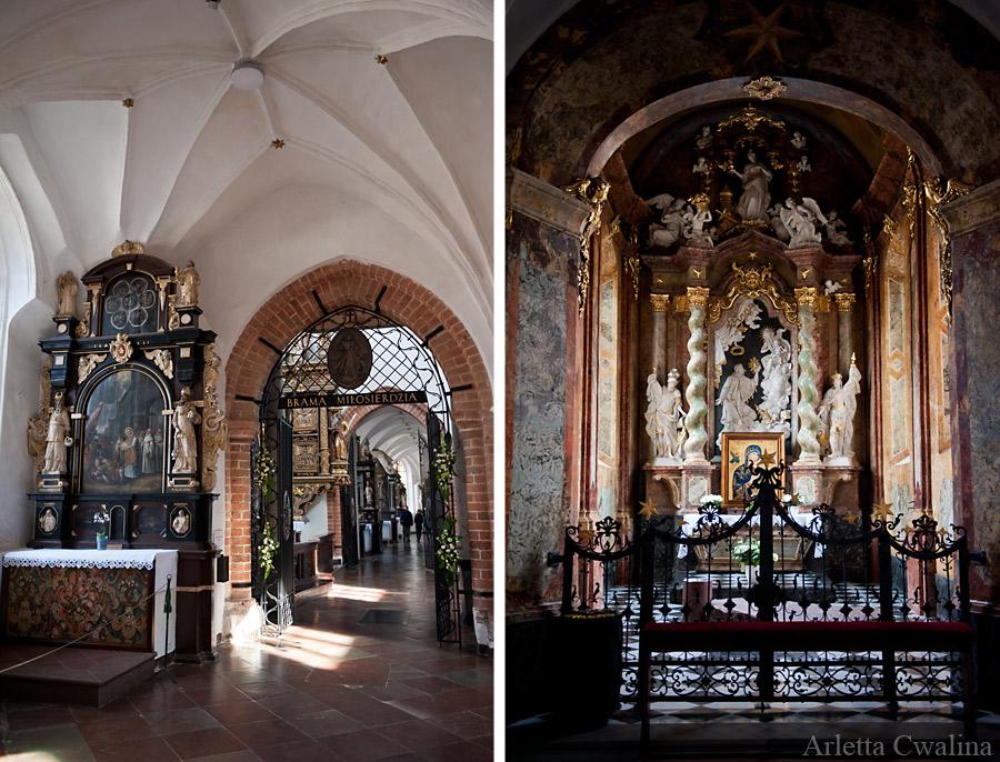 nawy i boczne ołtarze w Oliwskiej katedrze