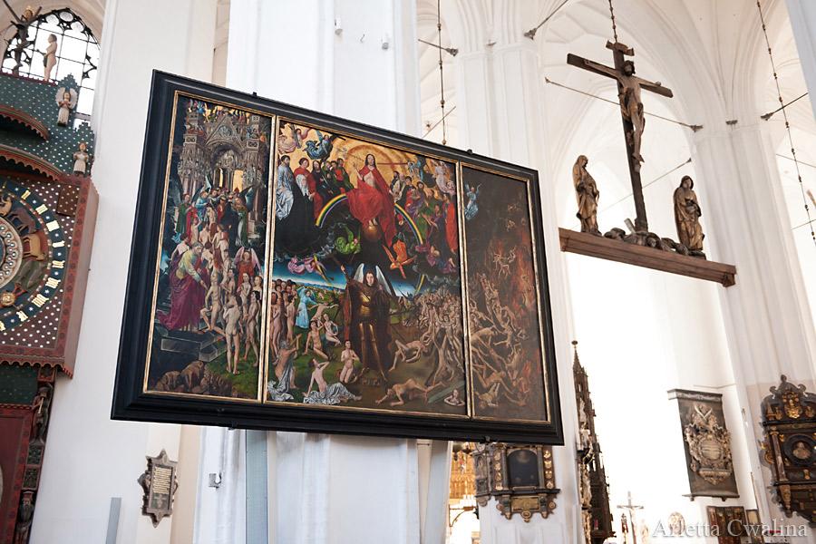 obraz Sąd Ostateczny w kościele Mariackim