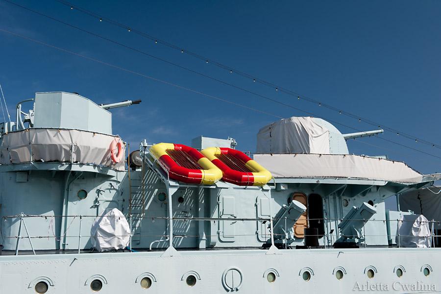 szalupy na statku Błyskawica w Porcie Gdynia