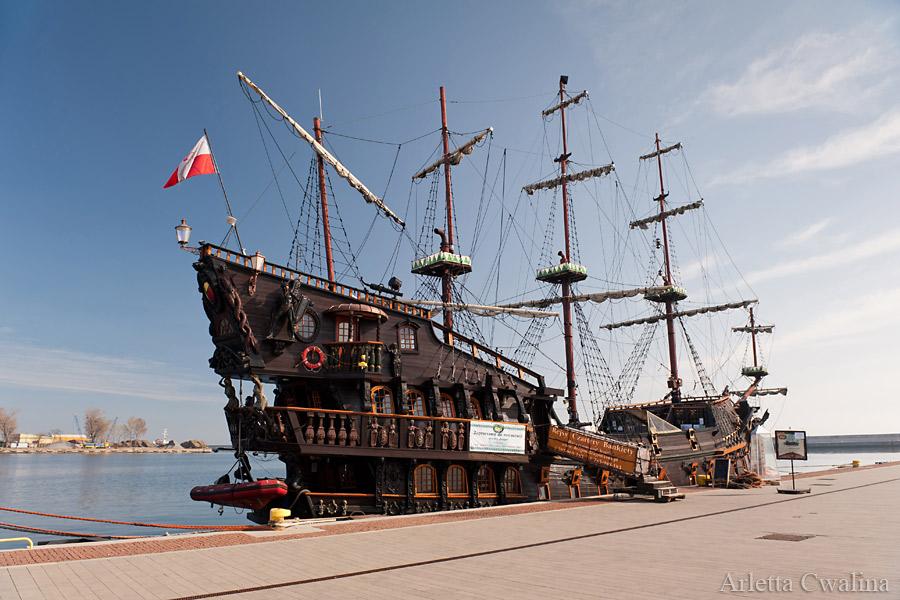 galeon Dragon w Porcie Gdynia
