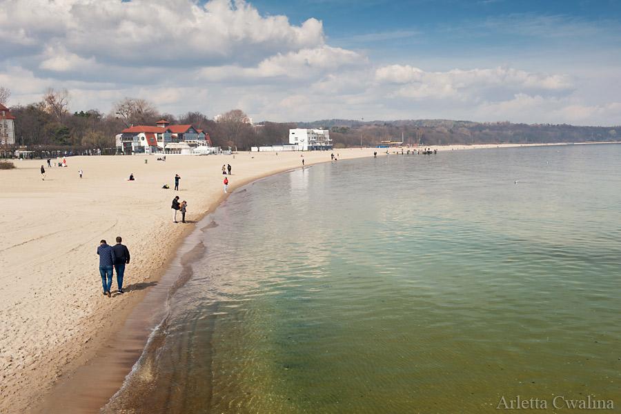 plaża przy Sopockim Molo