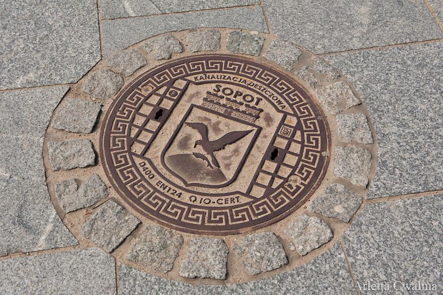 pokrywa studzienki w Sopocie