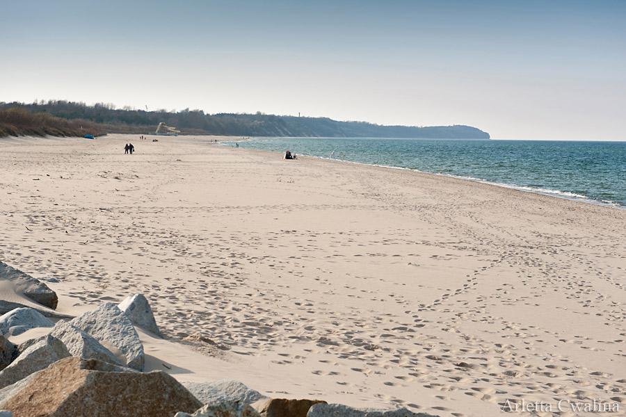 pusta plaża we Władysławowie